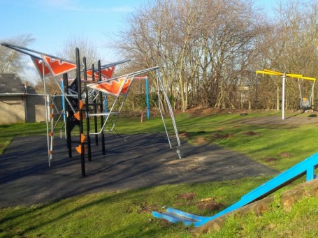 The new playground by the Village Hall.